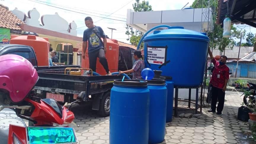 Distribusi Cairan Disinfektan di Wilayah Kecamatan Adimulyo